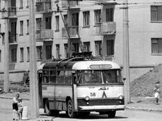LAZ-695T trolley bus. Because they were electric rather than 8nternal combustion, most of the trolley buses were manufactured in Kiev and Odessa.