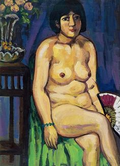 Guan Zilan (1903-1986) - 1940 Nude Woman with a Fan (Private Collection)   Flickr - Photo Sharing!