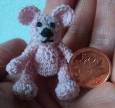 Homemade Obsessions: Tiny Crochet Bear Pattern