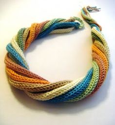 ...Fazendo Crochê...: Colar..cachecol ou faixa para cabelo