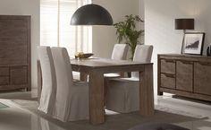 Mesa comedor  Color madera de acacia cepillado. Tonos cenizas. Madera de acacia. Medidas: Aparador: 180 x 100 x 76 cm