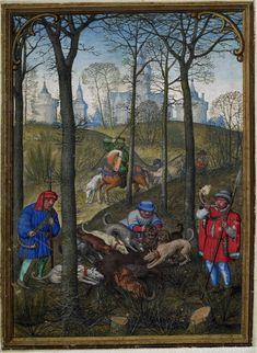 December 1 - Hennessy Book of Hours - miniaturist: Simon Benning - Flanders, 1530-1540 - Bruxelles, Bibliothèque royale Albert Ier, ms. II 158