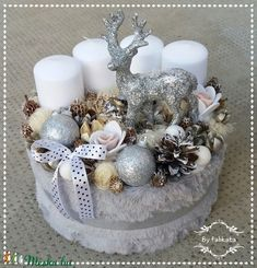 Winter Fashion adventi box karácsonyi asztaldísz doboz (fabkata) - Meska.hu Winter Christmas, Christmas Wreaths, Christmas Decorations, Xmas, Christmas Tree, Hat Boxes, Tis The Season, Door Wreaths, Centerpieces