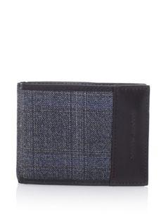 49% OFF Joseph Abboud Men\'s Tweed Passcase Wallet (Blue Tweed)