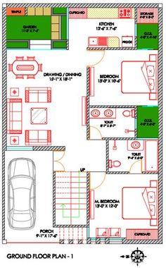 Vastu House Plan (West Facting) 150 sq yards. Contact for Vastu Plans : +919855783783 2bhk House Plan, Free House Plans, Simple House Plans, Beautiful House Plans, Model House Plan, Duplex House Plans, Family House Plans, West Facing House, North Facing House