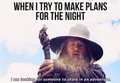 Partying Gandalf style…