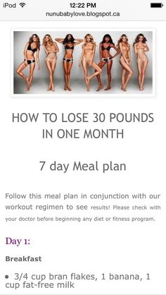How To Lose Weight In 1 Month With a 7 Day Meal