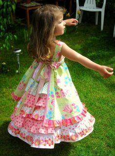 Feliz Party Dress from Sewing Clothes Kids Love