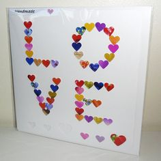LOVE  Handmade Valentines Card  Valentine I Love by CardsbyGaynor, £3.95