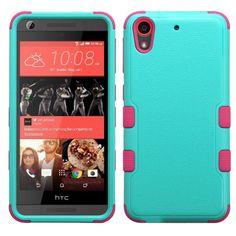 MYBAT TUFF Hybrid HTC Desire 626 / 626S Case - Teal Green/Pink