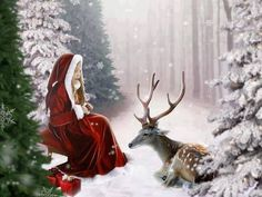 Yule, is the festival of light and rebirth. The Winter Solstice (Yule)… Christmas Scenes, Noel Christmas, Vintage Christmas Cards, Christmas Pictures, Winter Christmas, Christmas Child, Celtic Christmas, Country Christmas, Yule