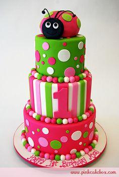 Lady bug Cake!!