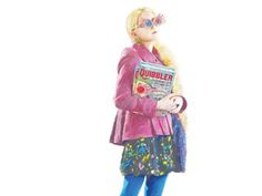 Illustration of Luna wearing her Spector Specs and holding the Quibbler