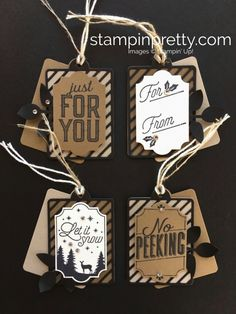 Create simple Christmas holiday gift tags using Stampin' Up! Merry Little La… Advertisements Create simple Christmas holiday gift tags using Stampin' Up! Merry Little Labels – Mary Fish StampinUp Ideas Holiday Gift Tags, Christmas Gift Box, Stampin Up Christmas, Christmas Gift Tags, Simple Christmas, Christmas Holidays, Christmas 2017, Holiday Cards, Nordic Christmas