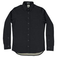 Black Sanded Canvas Mechanic Shirt