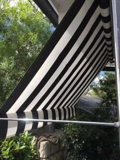 Black & White stripe awning