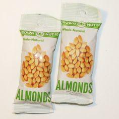 50 Pk Whole Natural Almonds $42.89  #almond, #bake, #snack, #lunch  whole-natural-almond-crown-nut-company