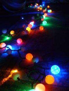 ping pall balls over Christmas lights