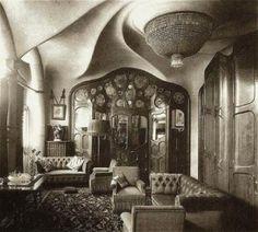 Antoni Gaudi, Casa Batllo 1906 Barcelona, woonkamer in een van de appartementen.