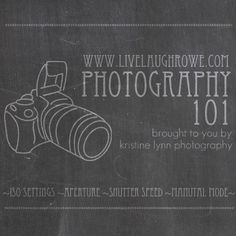 Photography 101 Series. Tips on ISO Settings, Aperture, Shutter Speed and more! livelaughrowe.com
