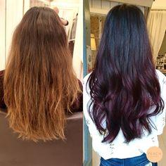 En av höstens hårtrender 2016 heter Cherry Bombre || Aubergine / eggplant hair color