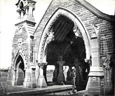 Mortuary Railway Station at Rookwood Cemetery in western Sydney (year unknown). Public Architecture, Australian Architecture, Historical Architecture, British Guiana, Sydney City, Cemetery Art, History Of Photography, Historical Images, West Lake