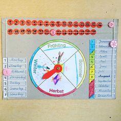 Die Zweitklässler haben ganz einfache Kalender gebastelt. Am schwierigsten war die Auswahl der Knöpfe aus einer riesigen Kiste voll.😂 #grundschule #lehrerleben #teacher #teacherlife #teachersofinstagram