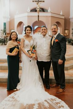 A Filipino-Mexican Wedding In California That Beautifully Blends Mexip – Sinta & Co. Rose Wedding, Wedding Blog, Wedding Ideas, Filipino Wedding Traditions, Filipino Culture, American Wedding, Mother And Father, Engagement Photos, Family Photos