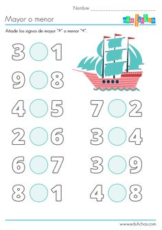 Kindergarten Math Worksheets, Math Literacy, In Kindergarten, Numbers Preschool, Preschool Math, Fun Math Activities, First Grade Math, Math For Kids, Math Lessons