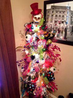 Sugar Skull Christmas Tree! Unique!