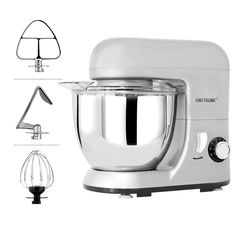 CHEFTRONIC Stand Mixer Kitchen MixerElectric Mixer 6 Speeds QT Stainless Steel Bowl with Splash GuardDough HookWire Whip Flat Beater for Mothers Day. -- You can find more details by visiting the image link. (This is an affiliate link) Kitchen Post, Small Kitchen Appliances, Kitchen Aid Mixer, Refinish Kitchen Cabinets, Kitchen Backsplash, Home Depot, Gas Stove Burner, Kitchen Appliance Packages, Kitchen Designs Photos