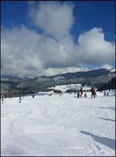Skifahren lernen auf den Pisten im Skigebiet Winklmoosalm/ Steinplatte