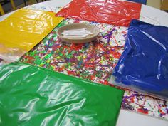 Paint bags -- all the fun for days you don't have time for a bath ASAP! Preschool Arts And Crafts, Crafts For Boys, Preschool Ideas, Craft Activities, Toddler Activities, Educational Activities, Classroom Projects, School Projects, Projects For Kids
