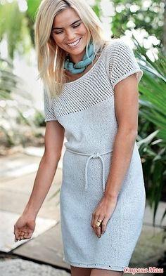 Простое легкое летнее платье прямого покроя. Модель вяжется сверху вниз, и это дает возможность регулировать длину платья по вашему усмотрению. РАЗМЕРЫ XS (S) M (L) ВАМ ПОТРЕБУЕТСЯ