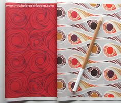 Undulate and Twisted Abode by Michele Rosenboom.  Available on Spoonflower.