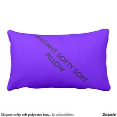 Elegant softy soft polyester lumbar pillow