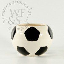 Buy the ceramic soccer ball vase or any vases cylinder available at wholesale prices every day in Wholesale Flowers and Supplies' store or online. Soccer Birthday Parties, Soccer Party, Soccer Ball, Sports Birthday, Birthday Fun, Soccer Centerpieces, Bar Mitzvah Centerpieces, Centerpiece Ideas, Soccer Decor