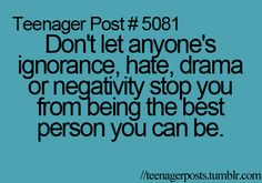 The best person you can be
