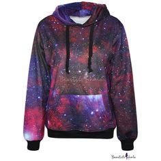 Purple Galaxy Print Hoodie (41 AUD) ❤ liked on Polyvore featuring tops, hoodies, hoodie sweat shirt, sweatshirt hoodies, sweat shirts, purple hooded sweatshirt and hoodies sweatshirts