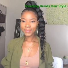 naturalhairstyles ponytail naturalhair braids braidedhairstyles curlyhairstyles curls curlyhair is part of Hair styles - Ponytail Styles, Curly Hair Styles, Ponytail Ideas, Quick Braid Styles, Braid Hairstyles, Girl Hairstyles, Hairstyles Videos, Weave Ponytail Hairstyles, Scene Hairstyles