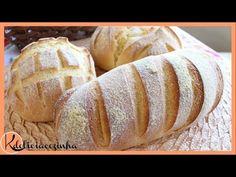 BROA DE FUBÁ SUPER FÁCIL DE FAZER  #kdeliciacozinha - YouTube Bread, Butter, Delicious Recipes, Sweet Recipes, 3 Ingredients, Meals, Flowers, Breads, Buns