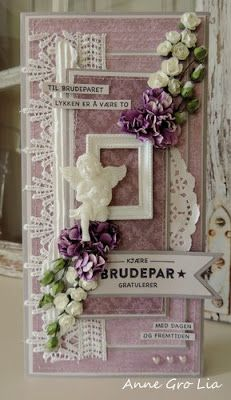 min lille scrappe-verden: Bryllupskort (DT for Kort & Godt Hobby)