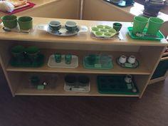 Montessori March Practical life shelf fine motor