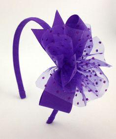 Look what I found on #zulily! Purple Sparkle Headband #zulilyfinds
