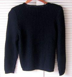 Schwarzer #Damen #Pullover aus #Alpakawolle