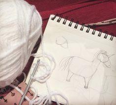 Currently making  #wip #unicorn #amigurumi #crochet #plush #handmade #instacrochet #toydesign #diy #crochetersofintagram #craftastherapy #yarn #crafty by squishycritter