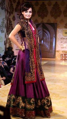 Dia Mirza in Gorgeous Garara - Lehenga in FW Colors