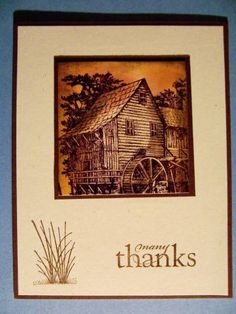 Country thanks by newbiestampr - Cards and Paper Crafts at Splitcoaststampers