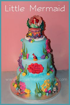 Princess Ariel Birthday Cakes | Little Mermaid Cake | Flickr - Photo Sharing!