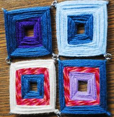 The Cork Cage Yarn Coaster is an awesome way to use yarn scraps. They look so funky; I love them!
